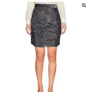 Maje Janaud Draped Lurex Skirt